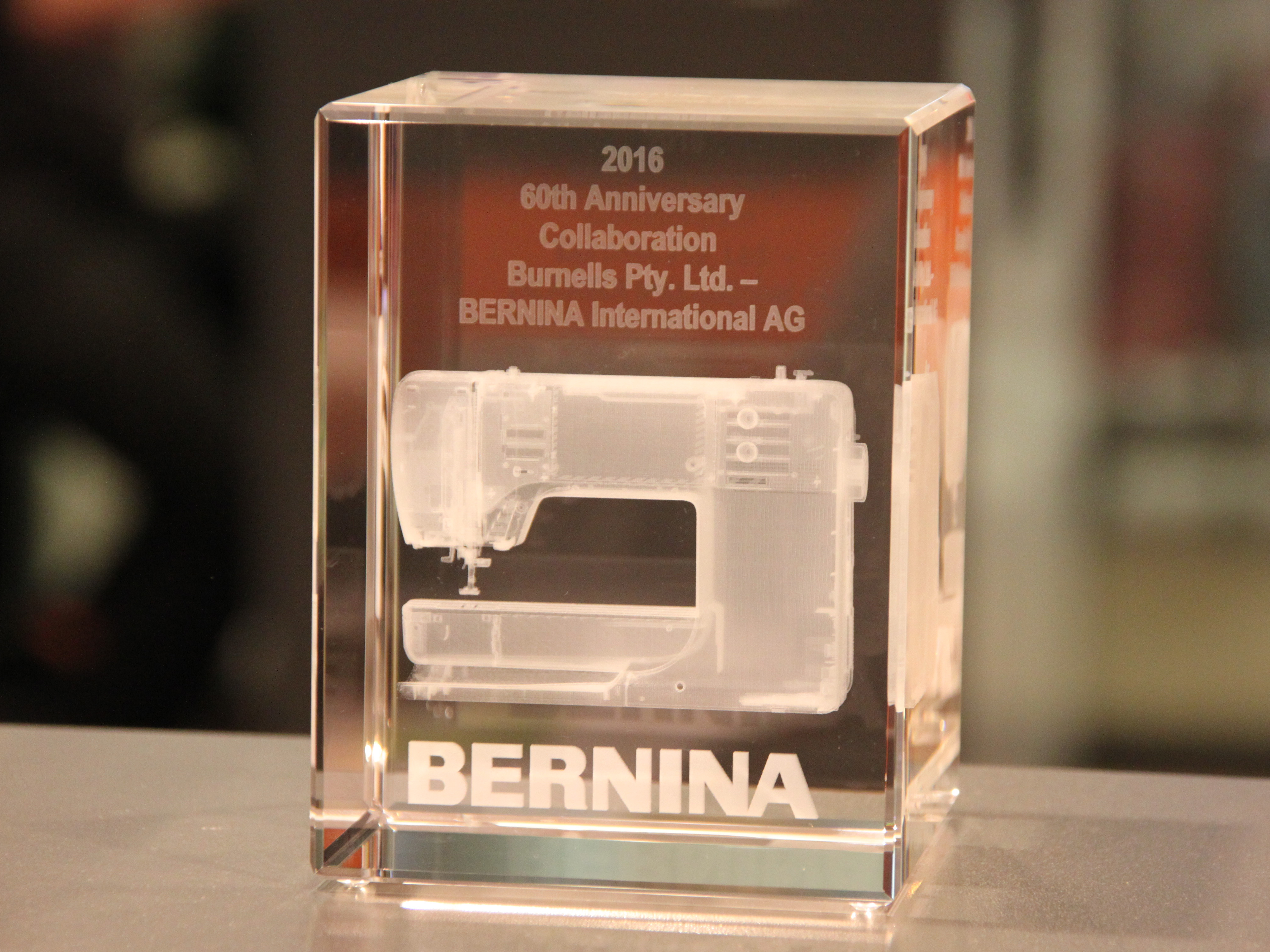 Bermina Nähmaschinen International Ag 3D Gravur Laserpix