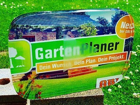 Garten Planer OBI Youtube Award Digitaldruck von Laserpix